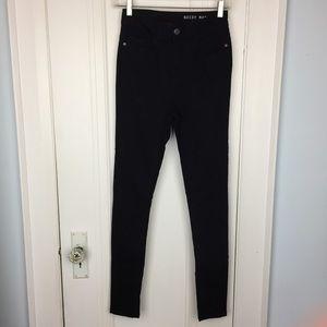 Noisy May High Waisted Black Skinny Jeans